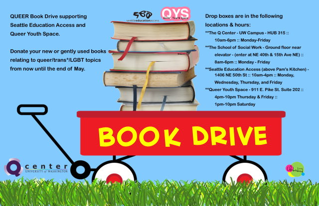 Spring Book Drive Poster 2013 Unbodied Design