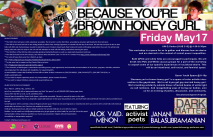 Because You're Brown Honey Gurl Poster 2013